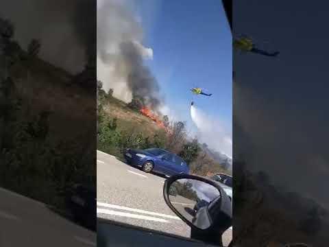 Incendio en la carretera de Asturias