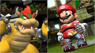 Mario Strikers Charged - Bowser vs Mario - Wii Gameplay (4K60fps)