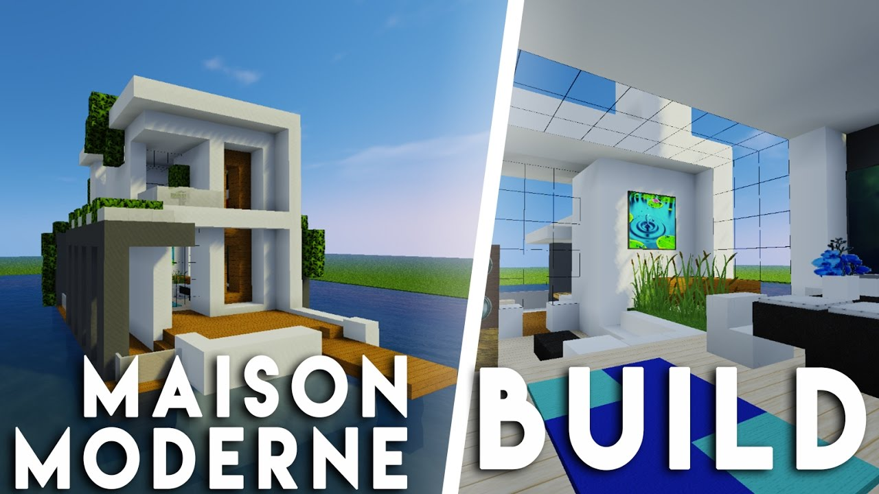 minecraft construction d 39 une maison moderne sur l 39 eau feat capitainekirk youtube. Black Bedroom Furniture Sets. Home Design Ideas