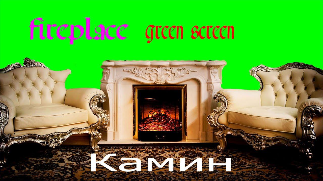 green screen fireplace камин hd1080 youtube