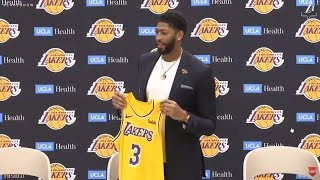 The Los Angeles Lakers Introduce Anthony Davis and Present him with his Jersey - NBA News