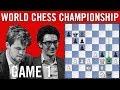 World Chess Championship 2018 Game 1: Magnus Carlsen vs Fabiano Caruana