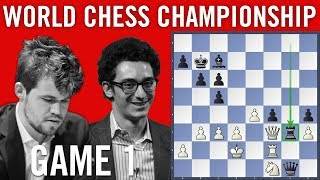 World Chess Championship 2018 Game 1: Magnus Carlsen vs Fabiano Caruana