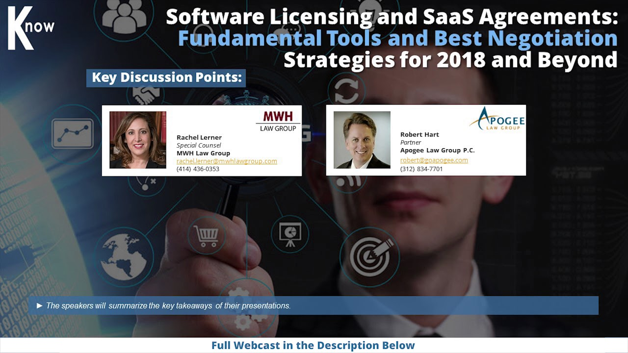 Software Licensing And Saas Agreements Youtube