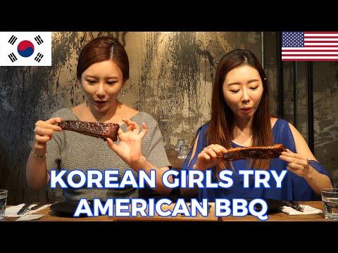 Korean Girls Try American BBQ  [Digitalsoju TV]