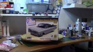 Scale Model Car 59 Chevy Impala final build