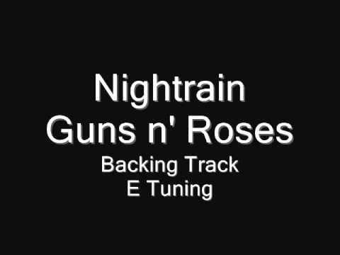Nightrain Backing Track (E) - Original Track - Full Solo