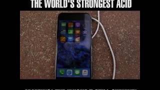 IPhone 7 Vs World's Strongest Acid (Fluoroantimonic Acid) and Sulfuric Acid