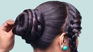 Easy Everyday Braided Bun Hairstyle for School, College,Work | Wedding Guest Hairstyles | Hairstyles