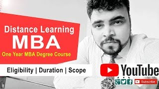 Distance Learning MBA, One Year MBA Degree Course