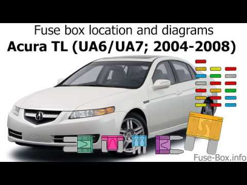 Fuse box location and diagrams: Acura TL (UA6/UA7; 2004-2008) - YouTubeYouTube