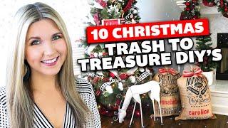 10 Christmas Trash to Treasure 🎄 Christmas Thrift Store Flip DIY's