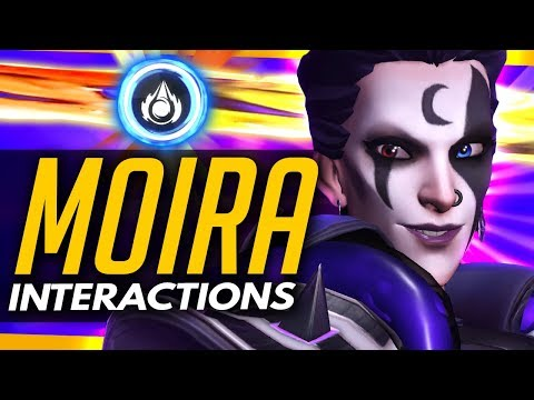 Overwatch | MOIRA - All Ability Interactions vs ALL HEROES (Ultimate, Orbs & Healing Testing)