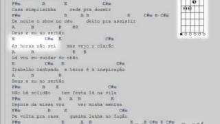 Deus e eu no Sertão - Letra e Cifra