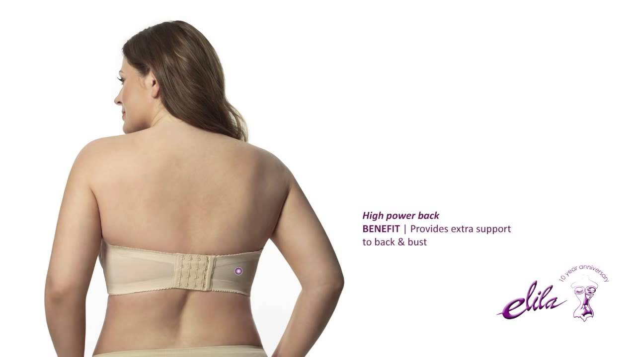 5a3fd008178f0 Elila Microfiber Spacer Molded Strapless Bra - Style 4820 - YouTube