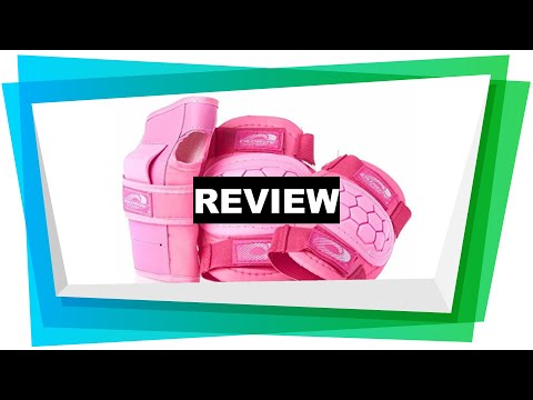 Review Osprey Kids' Skate BMX 6pc Knee, Elbow & Wrist Protective Set, Pink, L [2019]