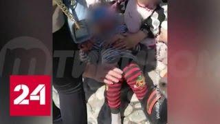 Смотреть видео В Улан-Удэ ветром снесло детский батут, пятеро пострадали - Россия 24 онлайн