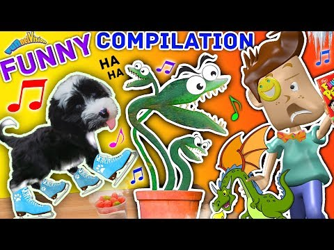 FUNnel Vision Musical Funny Compilation of PUPPY SKATING! Venus Fly Trap + Frozen Cereal Vlog