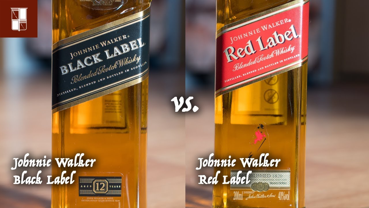 Johnnie Walker Black Label vs  Red Label