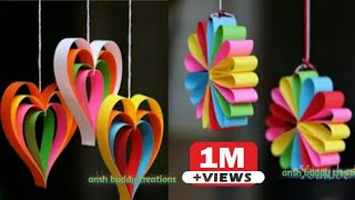 DIY PAPER CRAFT :: Easy Wall Hanging Decoration // DIY Room Decoration Ideas At Home