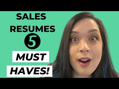 HOW TO WRITE A SALES RESUME - 5 TIPS