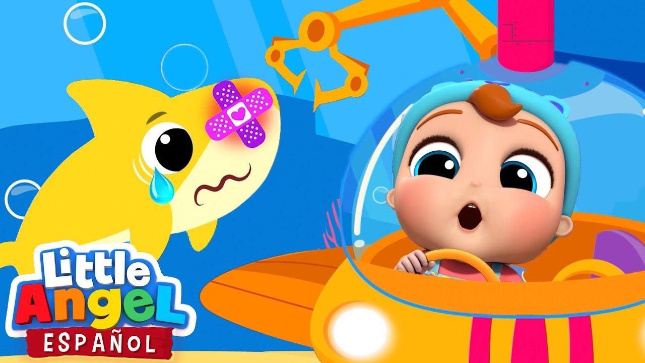 El Submarino y Bebé Juan Rescatan a Bebé Tiburón 🦈 | Canciones Infantiles | Little Angel Español