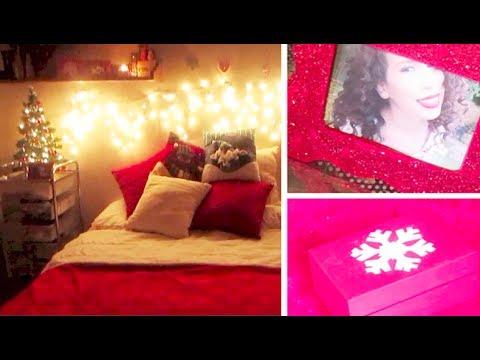 Decora tu cuarto para navidad 3 diy youtube for Como puedo decorar mi cuarto