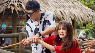 HAN SARA la thất thanh khi GIN TUẤN KIỆT dạy câu cá sấu