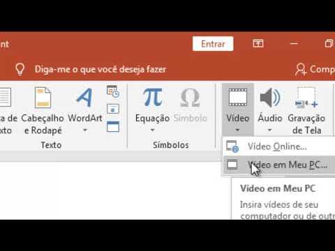 Como Inserir Um Vídeo Na Apresentação Do Slide PowerPoint