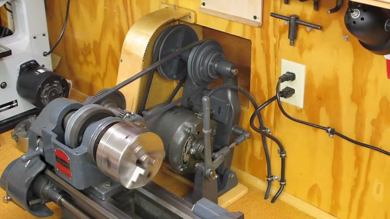 Logan Model 400 8 Inch Lathe Installation Hole In The Wall Clearance Youtube