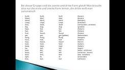 Die unregelmäßigen Verben im Englischen | Englisch