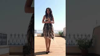 G 3026 Платье вечернее из эксклюзивного гипюра video