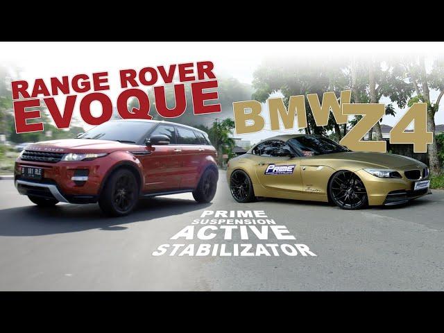 PRIME Suspension : Test Range Rover Evoque dan BMW Z4 2018 | PRW Motorsport Pontianak