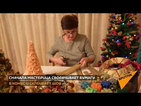 Бумажная елка: как конус превратить в рождественское дерево