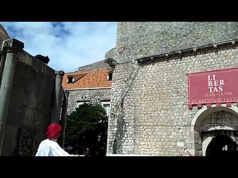 Sights on the Stradun or Placa, Dubrovnik, Croatia