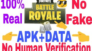 Fortnite mobile with APK+DATA No Human verification 2018