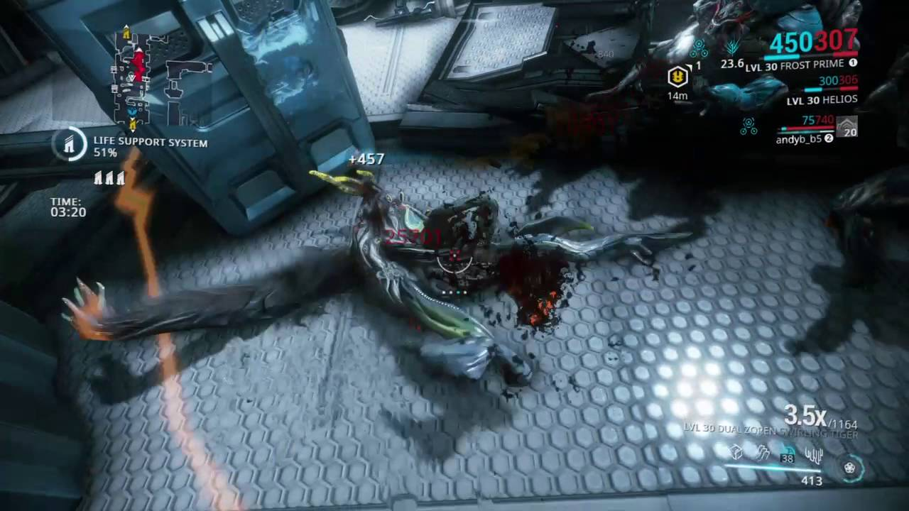 Warframe - Level 110-200 Infested Survival (Gift of the Lotus ...