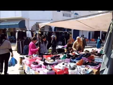 Tunesien 2014 Wochenmarkt in HOUMT SOUK