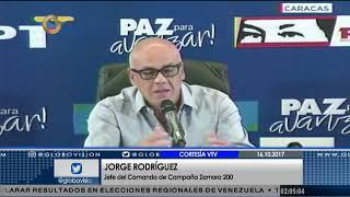 Jorge Rodríguez recalcó que elecciones regionales fueron un ejemplo para el mundo