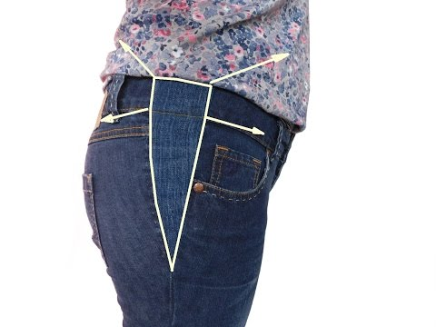 Jeans Hose  mit einem Keil erweitern  - so funktioniert.  How to Make a trousers bigger