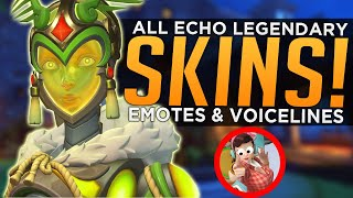 Overwatch: ALL NEW Echo Legendary Skins, Highlight Intros, Emotes & Voicelines!