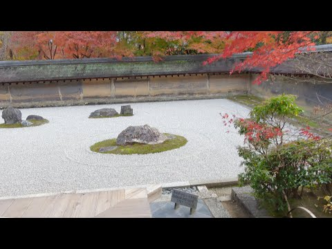 京都旅行!龍安寺の石庭と日本庭園編Ryoanji Temple Rock Garden in Kyoto Japan [4K]