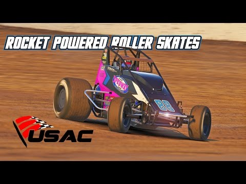 iRacing: Rocket Powered Roller Skates (Wingless Sprintcar @ Eldora)