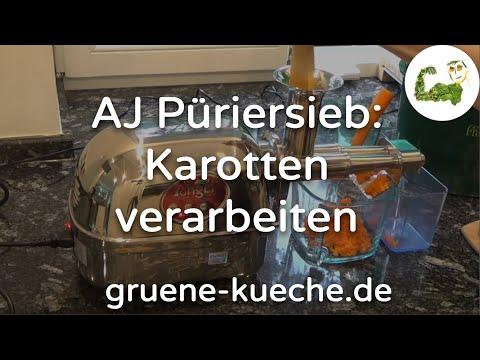 Angel Juicer Püriersieb / Mahlsieb - Zerkleinern von Karotten (Teil 1/2)