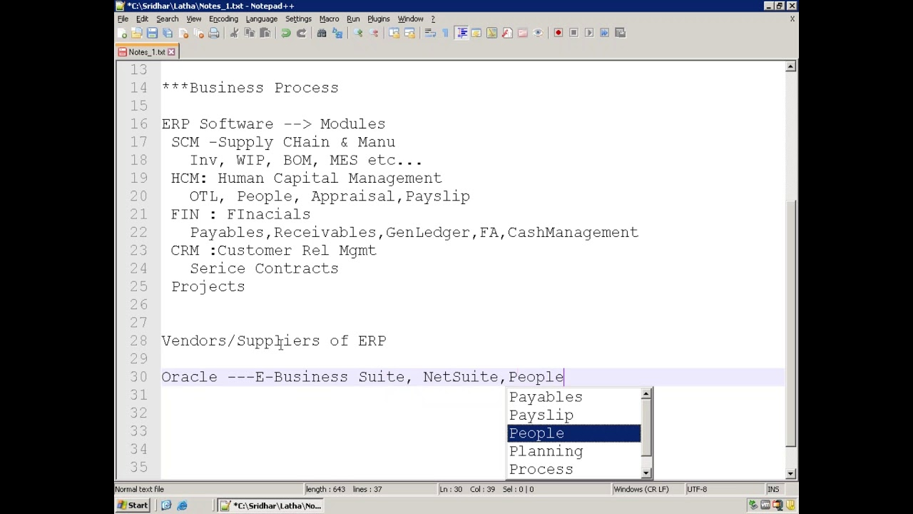 Oracle E-Business Suite (Oracle Apps) - Technical - Demo