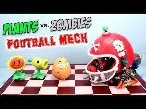 Plants Vs. Zombies K'nex Football Mech Building Set Review