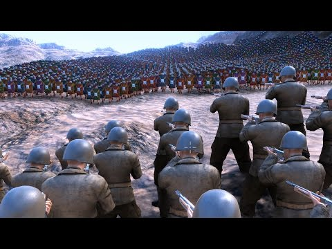 10.000 WW2 U.S. SOLDIERS vs 50.000 ROMANS - Ultimate Epic Battle Simulator