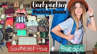 BACKPACKING Packing Guide | Europe & Southeast Asia