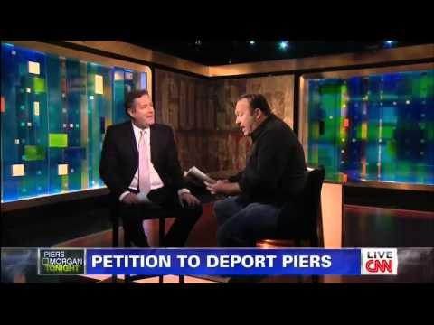 Video alex jones vs piers morgan on gun control live on cnn