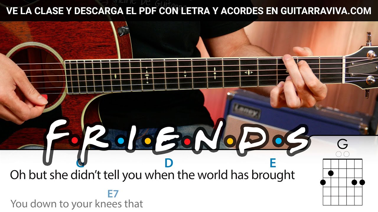 Ill Be There For You Friends Tv Serie Guitar Chords Acordes Demo